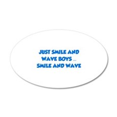 Smile and Wave 22x14 Oval Wall Peel