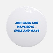 Smile and Wave Ornament (Round)