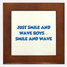 Smile and Wave Framed Tile