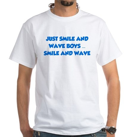 Smile and Wave White T-Shirt