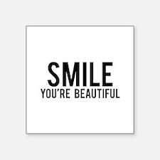 """Smile Square Sticker 3"""" x 3"""""""