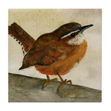 Carolina Wren Tile Coaster