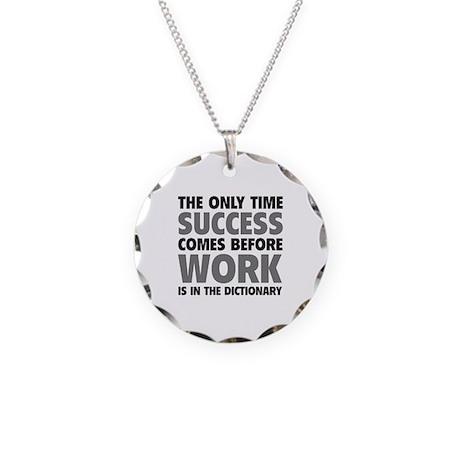 Succes Work Necklace Circle Charm