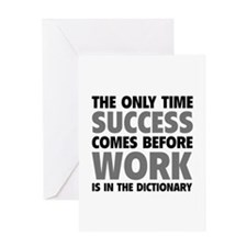 Succes Work Greeting Card
