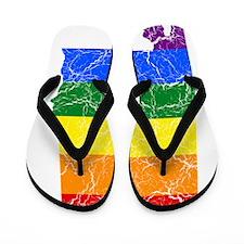 Alabama Rainbow Pride Flag And Map Flip Flops