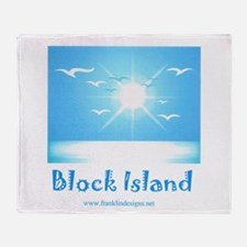 block island.jpg Throw Blanket