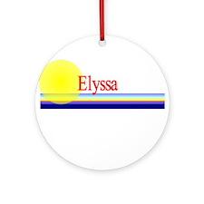 Elyssa Ornament (Round)