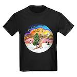XM2-German Shephard #1 Kids Dark T-Shirt