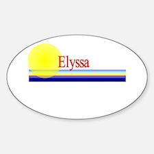 Elyssa Oval Decal