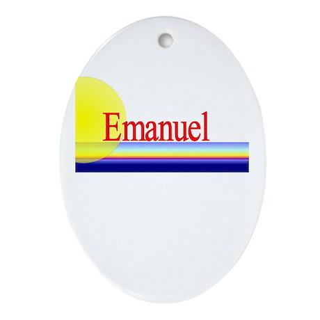 Emanuel Oval Ornament