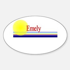 Emely Oval Decal