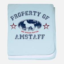 Amstaff baby blanket