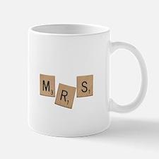 Mrs Scrabble Letters Mug