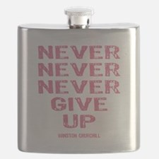 Breast Cancer Never Give Up Flask