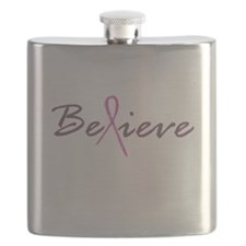 Believe Breast Cancer Flask