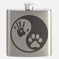Human & Dog Yin Yang Flask