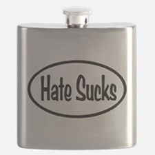 Hate Sucks Oval Flask
