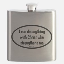 I can do anything Oval Flask