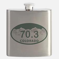 70.3 Colo License Plate Flask