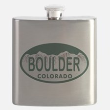 Boulder Colo License Plate Flask