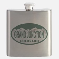 Grand Junction Colo License Plate Flask