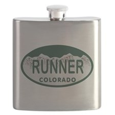Runner Colo License Plate Flask