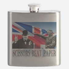 Scissors Beat Paper Flask