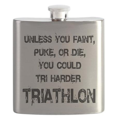 Tri Harder Flask