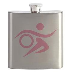 Pink Thriathlete Flask