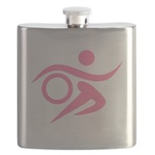 Pink Thriathlete Flask