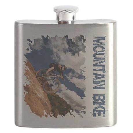 Mountain Bike Blue Sky Flask