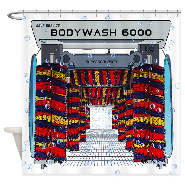 CAR WASH SHOWER CURTAIN Shower Curtain By Bluemoontrading
