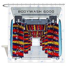 CAR WASH SHOWER CURTAIN Shower Curtain