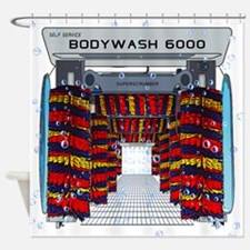 CAR WASH SHOWER CURTAIN Shower Curtain