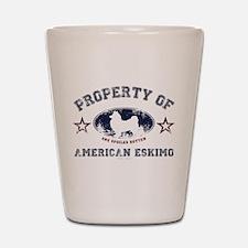American Eskimo Shot Glass