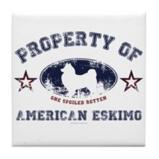 American Eskimo Tile Coaster