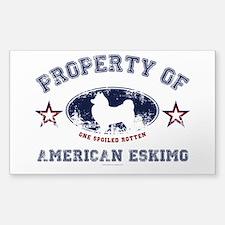 American Eskimo Sticker (Rectangle)