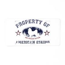 American Eskimo Aluminum License Plate