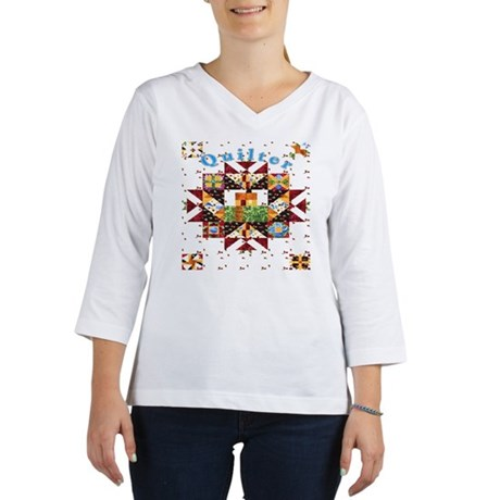 Country Cottage Quilter Women's 3/4 Sleeve Shirt