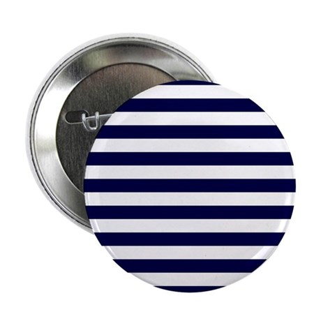 """Nautical Navy Stripes 2.25"""" Button (100 pack)"""