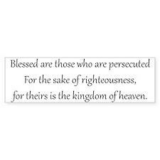 Persecution, Black on White, Beatitudes