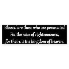 Persecution, White on Black, Beatitudes