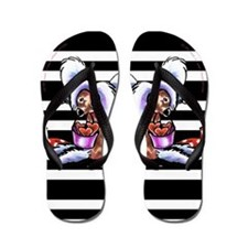 Crested Love Bucket Flip Flops