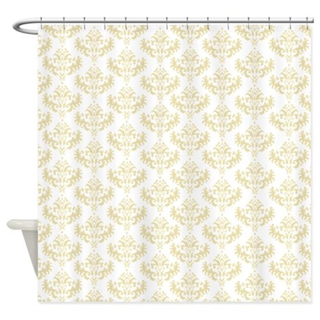 White And Gold White And Gold Shower Curtains