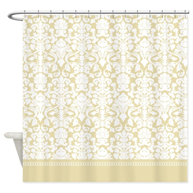 Gold Damask Shower Curtain By InspirationzStore