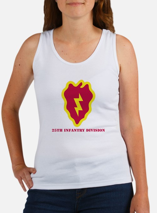 SSI - 25th Infantry Division with Text Women's Tan