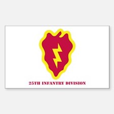 SSI - 25th Infantry Division with Text Decal