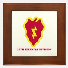 SSI - 25th Infantry Division with Text Framed Tile