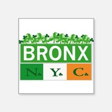 "Bronx Irish New Square Sticker 3"" x 3"""