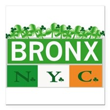"Bronx Irish New Square Car Magnet 3"" x 3"""
